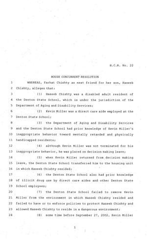 Primary view of object titled '81st Texas Legislature, House Concurrent Resolution, House Bill 22'.