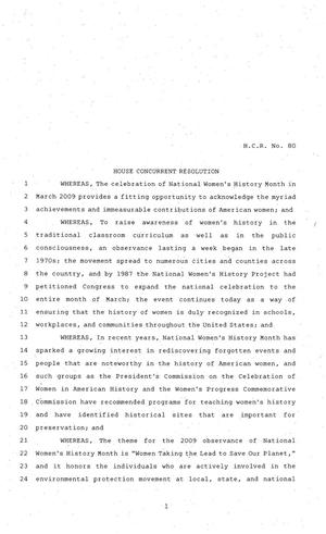 Primary view of object titled '81st Texas Legislature, House Concurrent Resolution, House Bill 80'.