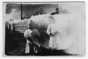 Primary view of object titled '[Photograph of Annetta and Myrtle Moten]'.