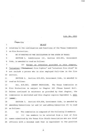 Primary view of object titled '81st Texas Legislature, House Bill 1011, Chapter 1216'.