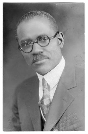 Primary view of object titled '[Photograph of Dr. E. D. Moten]'.