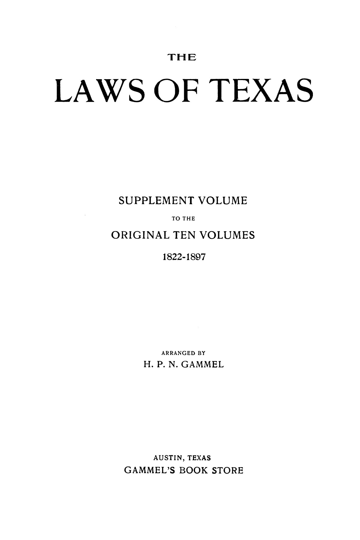 The Laws of Texas, 1921 [Volume 21]                                                                                                      [Sequence #]: 1 of 1670