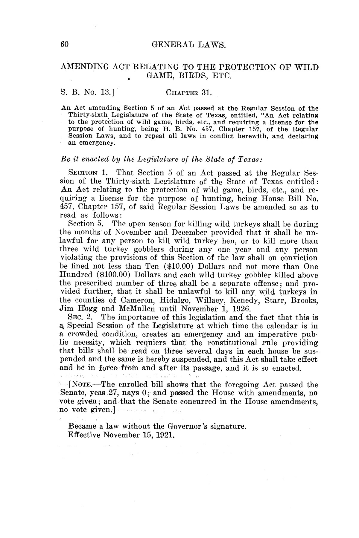 The Laws of Texas, 1921 [Volume 21]                                                                                                      [Sequence #]: 68 of 1670