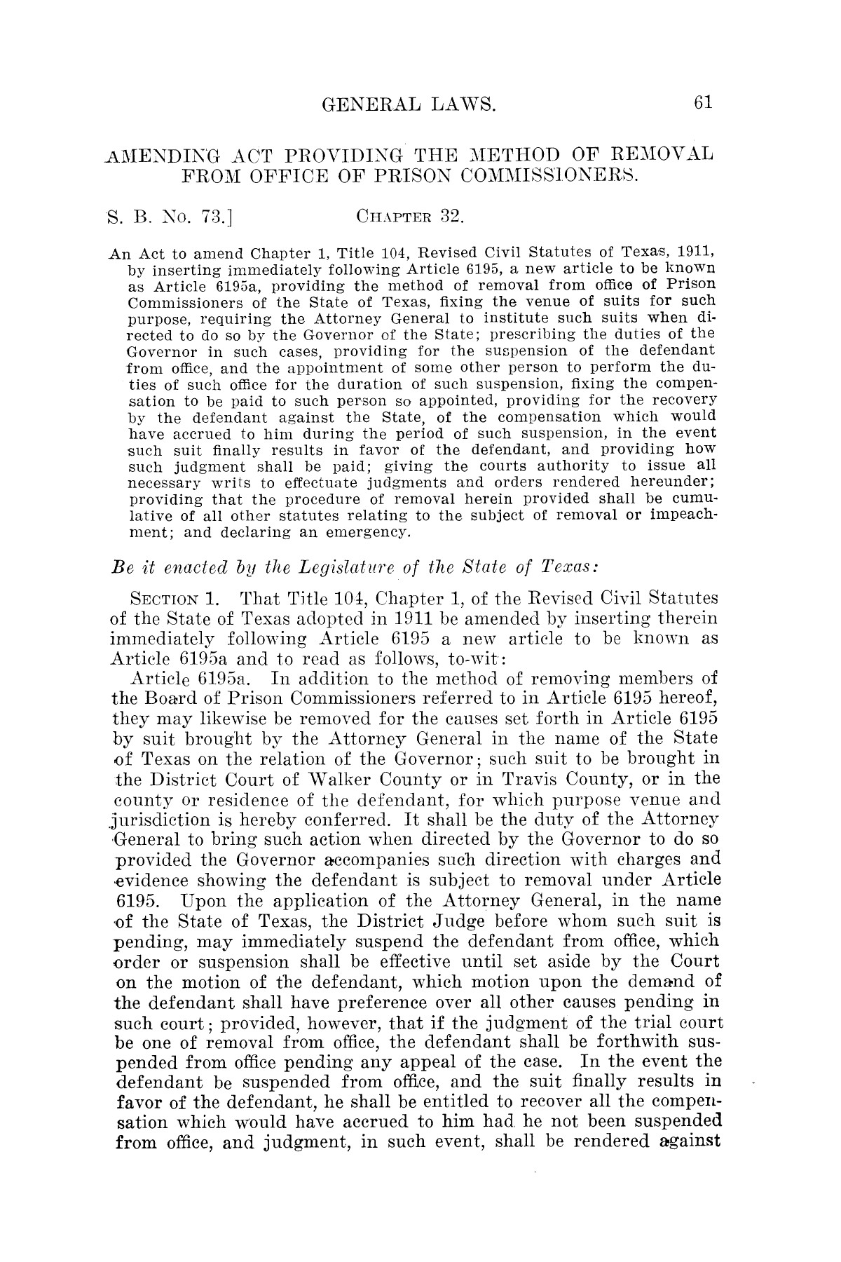 The Laws of Texas, 1921 [Volume 21]                                                                                                      [Sequence #]: 69 of 1670