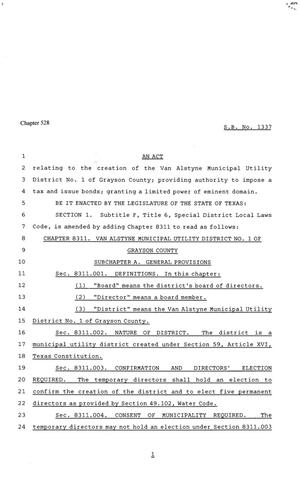 81st Texas Legislature, Senate Bill 1337, Chapter 528