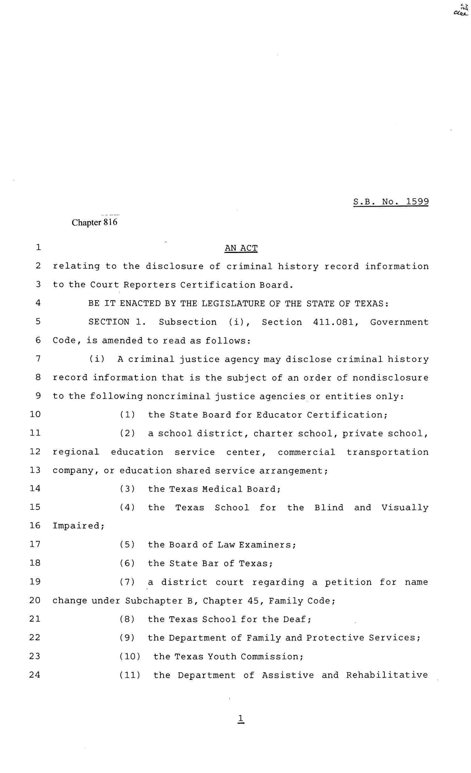 81st texas legislature senate bill 1599 chapter 816 the portal 81st texas legislature senate bill 1599 chapter 816 the portal to texas history xflitez Choice Image