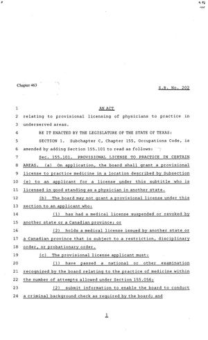 81st Texas Legislature, Senate Bill 202, Chapter 463