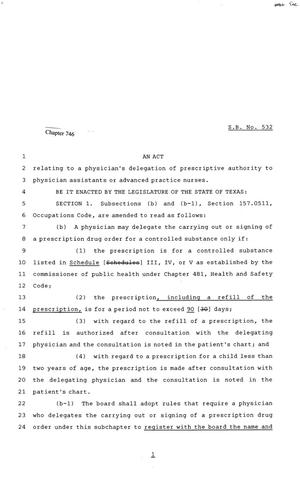 81st Texas Legislature, Senate Bill 532, Chapter 746