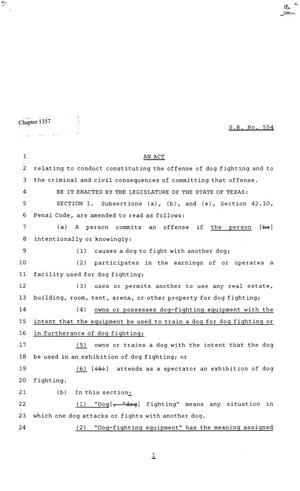 81st Texas Legislature, Senate Bill 554, Chapter 1357