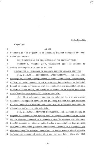81st Texas Legislature, Senate Bill 704, Chapter 1207
