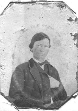 Primary view of [J.H.P. Davis at the age of 16.]