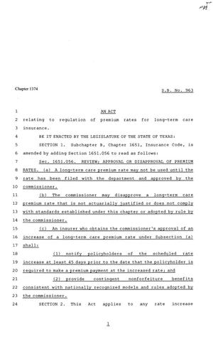 Primary view of object titled '81st Texas Legislature, Senate Bill 963, Chapter 1374'.