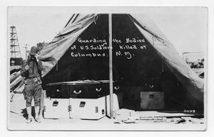 Primary view of object titled '[Guarding the Bodies of U.S. Soldiers Killed at Columbus, New Mexico]'.