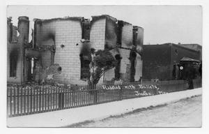 Primary view of object titled '[Damaged Building in Juarez, Mexico]'.