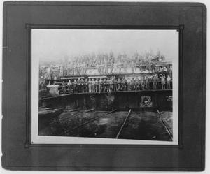 Primary view of object titled '601 Train Engine at  Texas and Pacific Station'.
