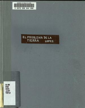Primary view of object titled 'El problema de la tierra'.