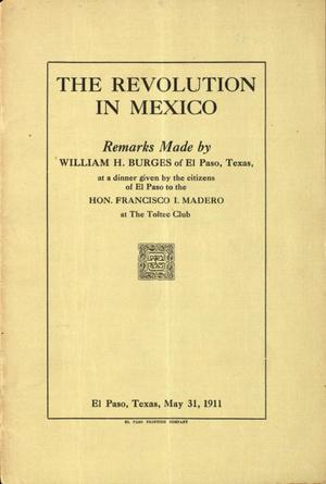 Primary view of object titled 'The revolution in Mexico.'.