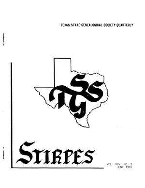 Primary view of object titled 'Stirpes, Volume 25, Number 2, June 1985'.