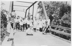 Primary view of object titled 'Group of People on a Bridge'.