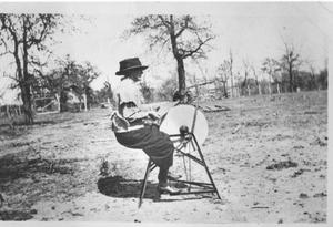 Primary view of object titled 'Hattie Arwine Anderson at a Sharpening Stone'.