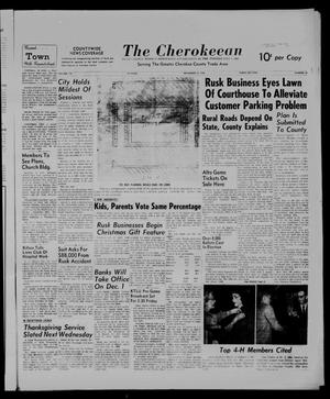 Primary view of object titled 'The Cherokeean. (Rusk, Tex.), Vol. 113, No. 22, Ed. 1 Thursday, November 17, 1960'.