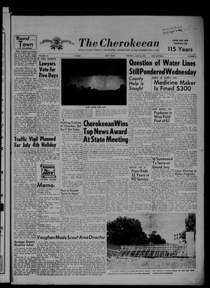 Primary view of object titled 'The Cherokeean. (Rusk, Tex.), Vol. 115, No. 2, Ed. 1 Thursday, June 28, 1962'.