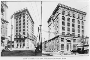 Primary view of object titled 'First National Bank and Fort Worth National Bank'.