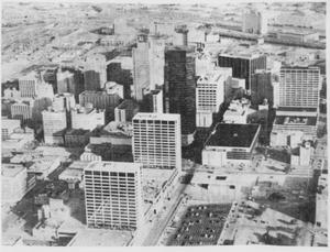 Primary view of object titled 'Aerial View of Downtown Fort Worth'.