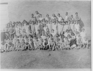 Primary view of object titled 'Unidentified Group of Students with Instructor'.