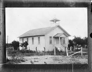 Primary view of object titled '[German Lutheran Church, Mercedes, Texas]'.