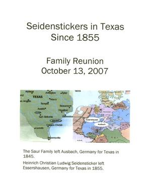 Primary view of object titled 'Seidenstickers in Texas Since 1855'.
