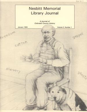 Primary view of object titled 'Nesbitt Memorial Library Journal, Volume 3, Number 1, January, 1993'.