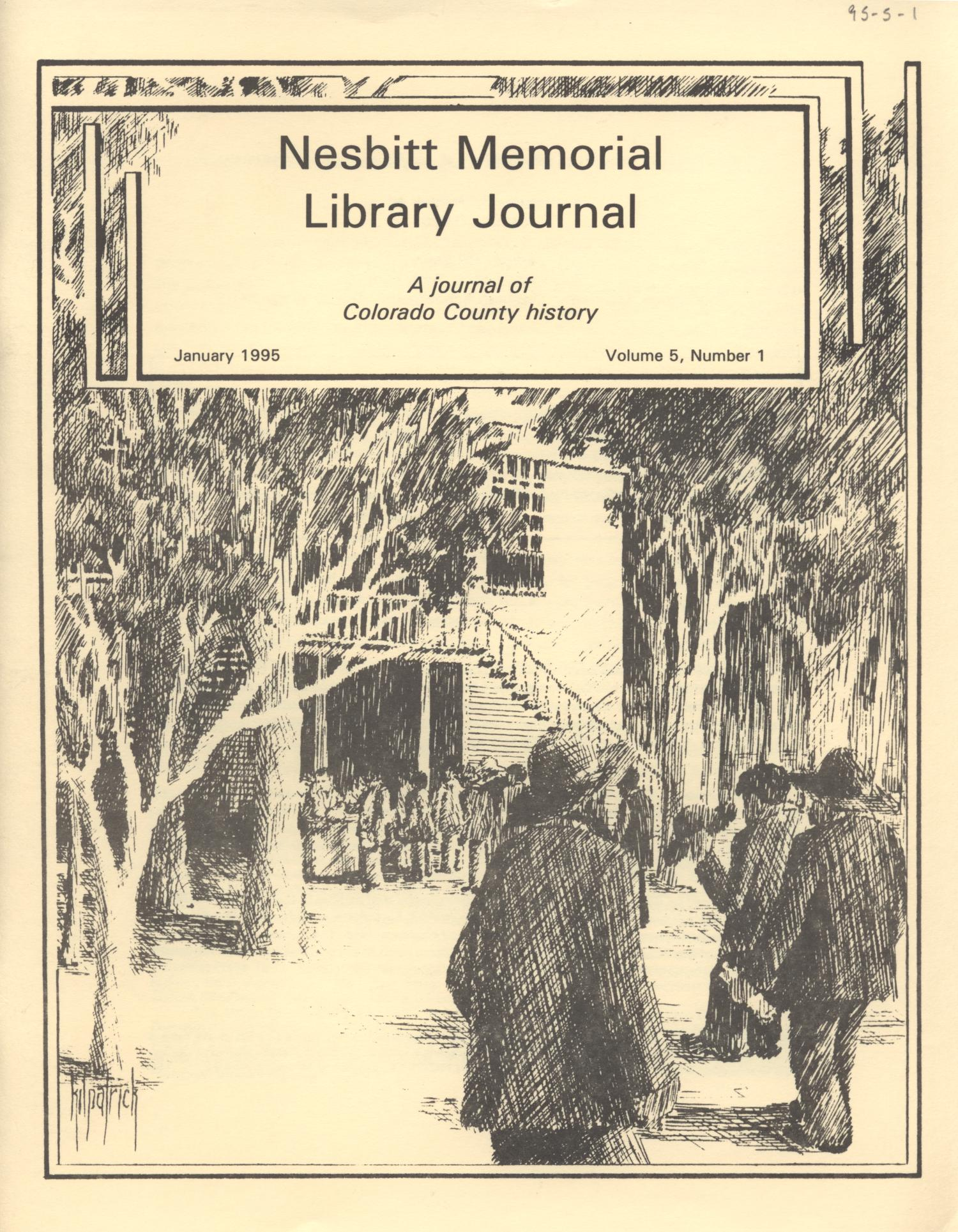 Nesbitt Memorial Library Journal, Volume 5, Number 1, January, 1995                                                                                                      Front Cover