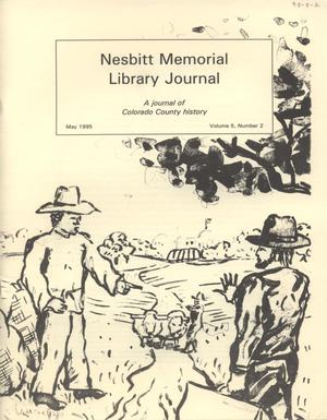 Primary view of object titled 'Nesbitt Memorial Library Journal, Volume 5, Number 2, May, 1995'.