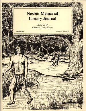 Primary view of object titled 'Nesbitt Memorial Library Journal, Volume 6, Number 1, January, 1996'.