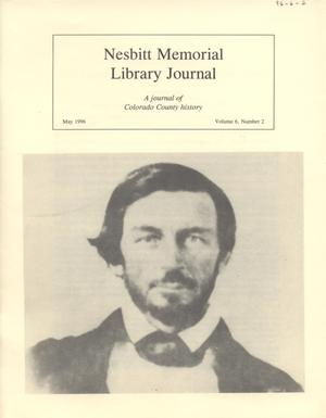 Primary view of object titled 'Nesbitt Memorial Library Journal, Volume 6, Number 2, May, 1996'.