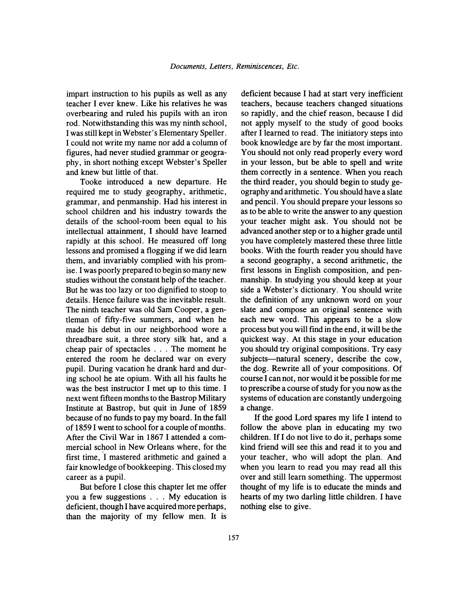 Nesbitt Memorial Library Journal, Volume 6, Number 3, September, 1996                                                                                                      157