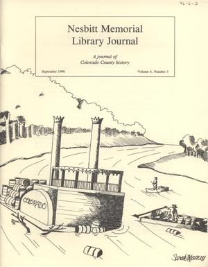 Nesbitt Memorial Library Journal, Volume 6, Number 3, September, 1996