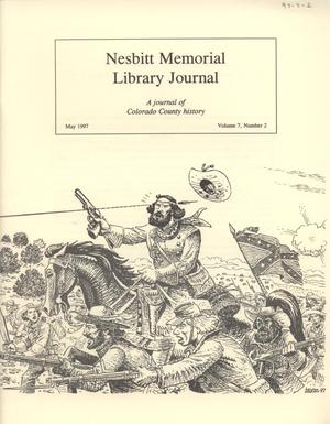 Primary view of object titled 'Nesbitt Memorial Library Journal, Volume 7, Number 2, May, 1997'.