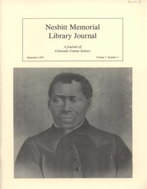 Nesbitt Memorial Library Journal, Volume 7, Number 3, September, 1997