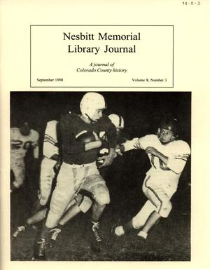 Nesbitt Memorial Library Journal, Volume 8, Number 3, September, 1998