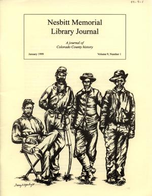 Nesbitt Memorial Library Journal, Volume 9, Number 1, January, 1999