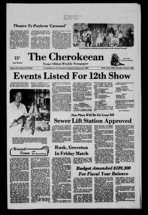The Cherokeean. (Rusk, Tex.), Vol. 131, No. 33, Ed. 1 Thursday, October 2, 1980