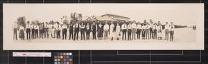 Primary view of object titled 'Excursion party of the Southwestern Land Co. in the Rio Grande Valley, Tex.'.