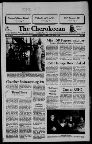 The Cherokeean. (Rusk, Tex.), Vol. 137, No. 3, Ed. 1 Thursday, February 27, 1986