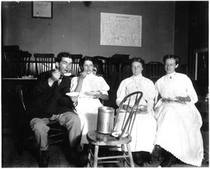 [An ice cream social at the First Methodist Church in Texas City around 1909]