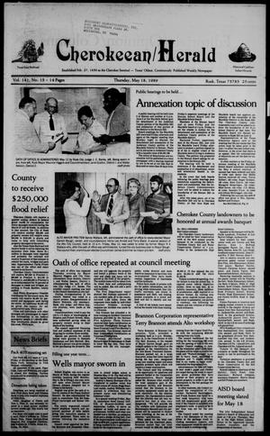 Cherokeean/Herald (Rusk, Tex.), Vol. 141, No. 15, Ed. 1 Thursday, May 18, 1989