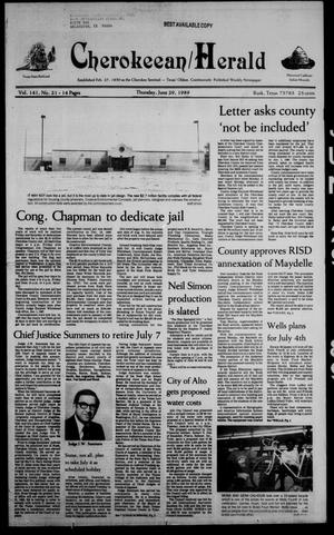 Cherokeean/Herald (Rusk, Tex.), Vol. 141, No. 21, Ed. 1 Thursday, June 29, 1989
