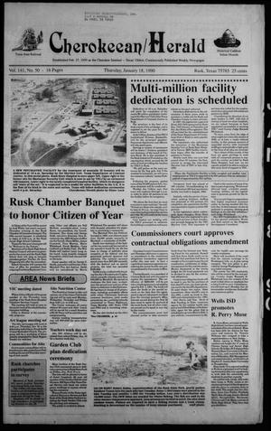 Cherokeean/Herald (Rusk, Tex.), Vol. 141, No. 50, Ed. 1 Thursday, January 18, 1990