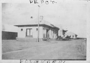 Primary view of object titled '[The Depot in Rosenberg.]'.